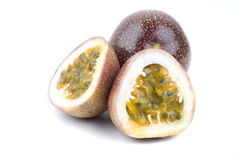 Halved passion fruit Stock Photography