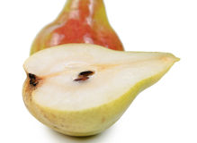 Halved pear Royalty Free Stock Image