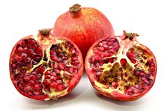 Halved pomegranate Royalty Free Stock Images
