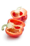 Halved red bell pepper Royalty Free Stock Photo