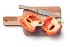 Halved red bell pepper Royalty Free Stock Photos