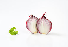 Halved red onion Stock Photography
