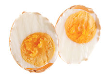 Halved Semihard Boiled Egg In Its Shell Royalty Free Stock Photography
