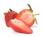 Halved strawberries Royalty Free Stock Image