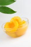 halves сироп персика Стоковое Изображение RF