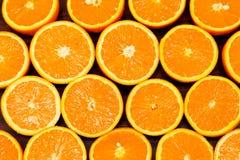 halves apelsiner Arkivbild