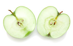 Halves of apple Stock Photos