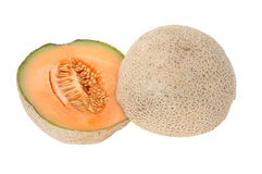 Halves Cantaloupe Royalty Free Stock Photography