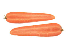 Halves of Carrot Stock Photography