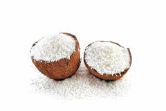 Halves of coconut Stock Photo