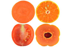 Halves of fruit and vegetable Stock Photography
