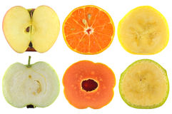 Halves of fruit Royalty Free Stock Image