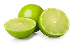 Halves of lime. On white background Stock Photography