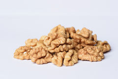 Halves of Nutmeat Stock Photo