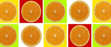 2 halves of orange on an isolated white background. Macro of an orange for backgrounds royalty free stock photo