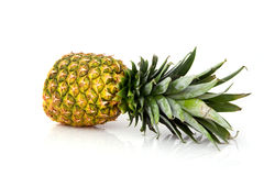 Halves of pineapple. Isolated on white background Stock Photography