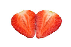 Halves of a strawberry Stock Photo