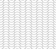 Halves waves black and white seamless pattern Royalty Free Stock Images