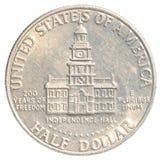 Halvt US dollarmynt Arkivfoto
