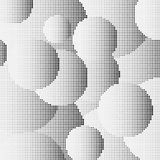 Halvtoncirklar från fyrkantiga punkter stock illustrationer