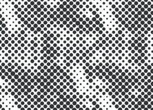 Halvtonprickar, svart på en vit bakgrund vektor illustrationer