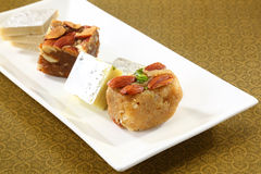 Halwa and Burfi Indian Sweet Stock Image