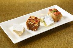 Halwa and Burfi Indian Sweet Royalty Free Stock Images