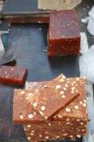 Halwa - Tradycyjny cukierki Zachodni Bengalia. Zdjęcie Stock