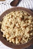 Halwaua e Aurd Sujee - a Semolina Pudding. Close up view of halwa. Halwaua e Aurd Sujee is a sweet dish made from Semolina, popular in North-West India Stock Photo