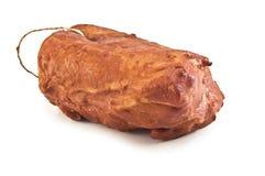 Ham. Appetizing ham on white background Stock Images