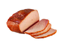 Ham. Isolated on a white background Stock Image
