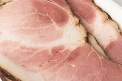 Ham. Close-up of ham slices Royalty Free Stock Photos