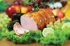 Ham. Photo of the polish ham Royalty Free Stock Images