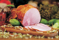 Ham. Photo of the polish ham Royalty Free Stock Photography