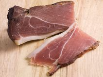 Ham. Lightly smoked piece of a ham Royalty Free Stock Photo