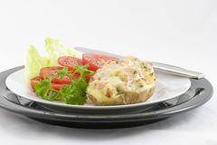 Ham & Zwitsers-Gevulde Aardappel Stock Foto