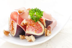 Ham And Figs Royalty Free Stock Photo