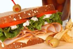 Free Ham And Turkey Sandwich On Multi Grain Bread Stock Image - 9354081