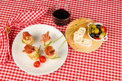 Ham appetizer Stock Images