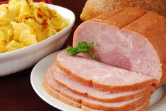 Ham and Au Gratin Potatoes Stock Images