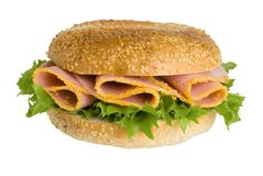 Ham Bagel Stock Images