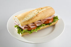 Ham baguette Stock Photography