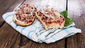 Ham Baguette with Mushrooms Royalty Free Stock Image