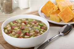 Ham and Bean Soup Royalty Free Stock Images