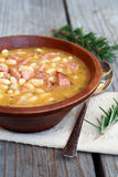 Ham and Bean Soup. With rosemary stock images