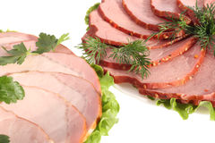 Ham and beef Royalty Free Stock Photo