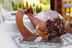 Ham on the bone. Cooked Ham on the bone Stock Photo