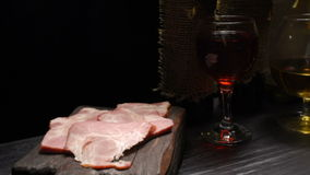 Ham and brandy stock footage
