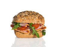 Ham Bread Roll Photographie stock libre de droits