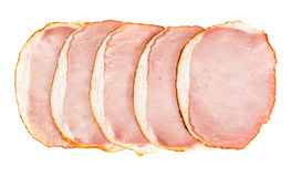 Ham, Carbonate on White Stock Photography